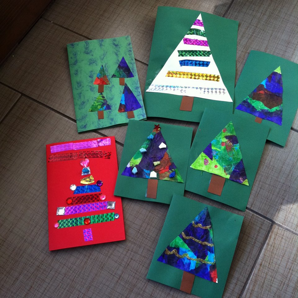 Mama pea pod two christmas cards preschool kids and for Christmas crafts for toddlers to make for parents