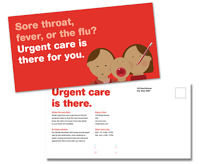Illustration based design for urgent care outreach