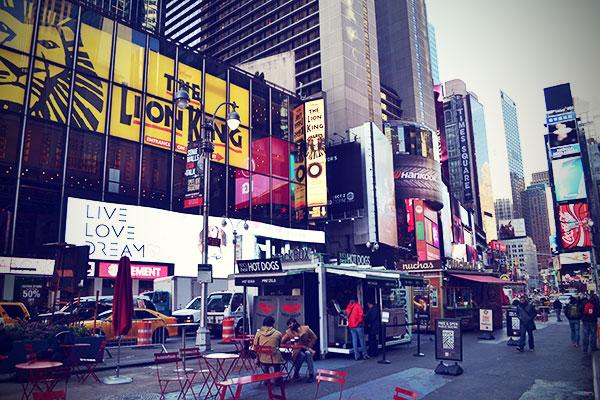 New York November 2013 Times Square König der Löwen