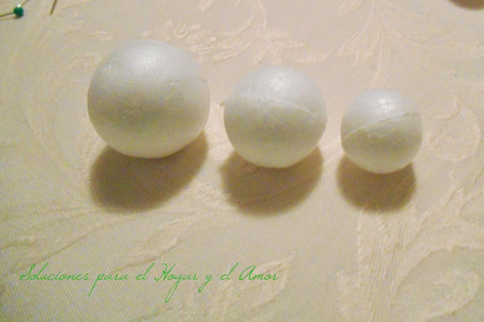 Como hacer un Collar de Tela con bolitas de Telgopor, Isopor, Tecnopor