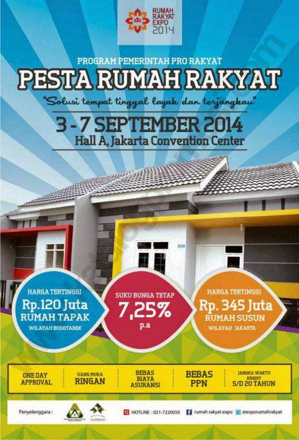 Pameran Rumah Murah Expo Rumah Rakyat 3-7 September 2014