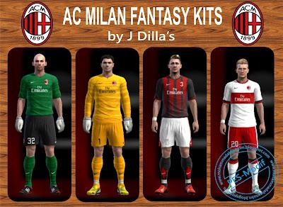 AC Milan Fantasy Kits by J Dilla's