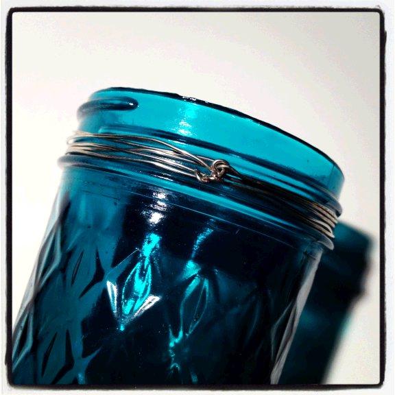 Dishfunctional Designs: Bohemian Beaded Colored Mason Jar Tutorial