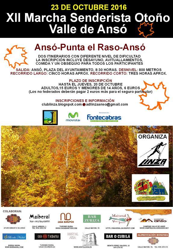 "XII Marcha Senderista ""Otoño"" Valle de Ansó"
