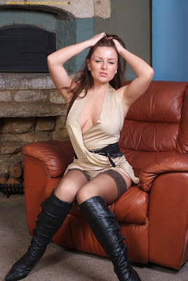 Stockings and leather boots what more could you want