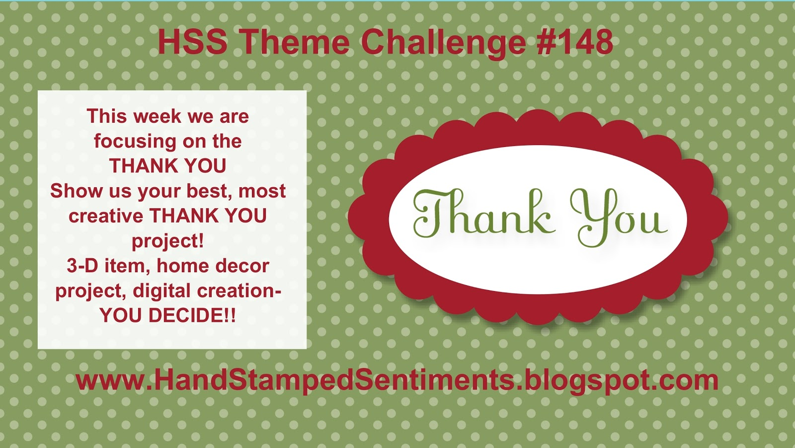 North Shore Stamper Hand Stamped Sentiments Challenge 148