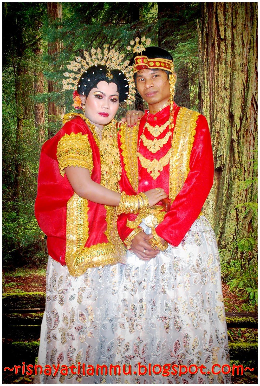 nie lah baju adat perkahwinan bangsa Bugis ::