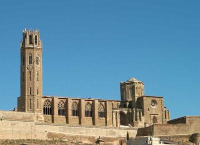 Lleida catedral de la Seu Vella turismo, España