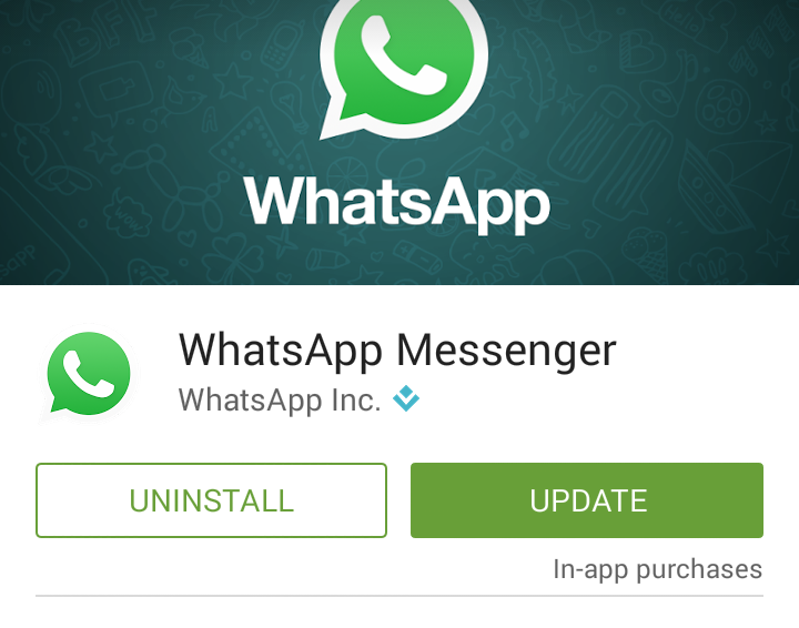 update whatsapp playstore