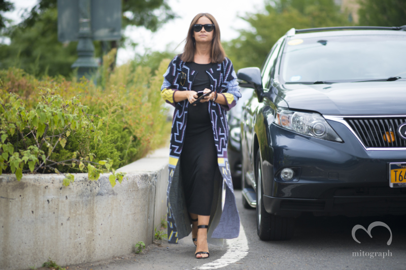 Miroslava Duma before Marc by Marc Jacobs show New York Fashion Week 2015 Spring Summer NYFW
