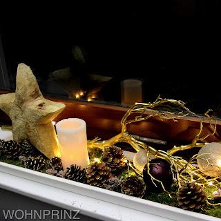 Bastian der wohnprinz wohnblogger im videoformat fensterbank weihnachtlich dekorieren Dekoration fensterbank innen