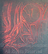 "Art Sample Made with KALEID 6""X6"" stencil"