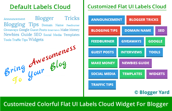 Flat UI Labels Cloud Widget For Blogger