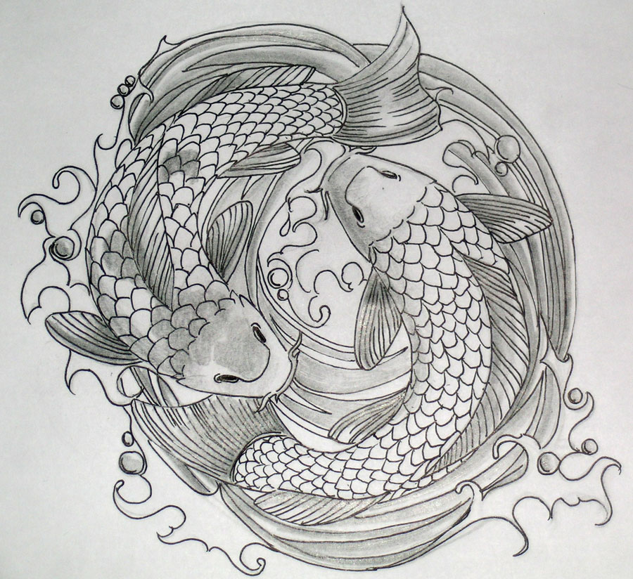 Information technology koi tattoos for men for Japanese koi fish drawing