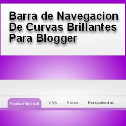 barra de navegacion con curvas brillantes para blogger