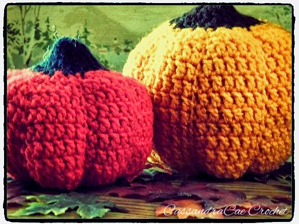Use leaves and small crocheted pumpkins to add a little fall flare to your home decor.
