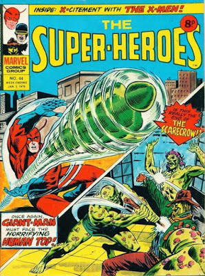 Marvel UK, the Super-Heroes #44, Giant-Man vs Human Top