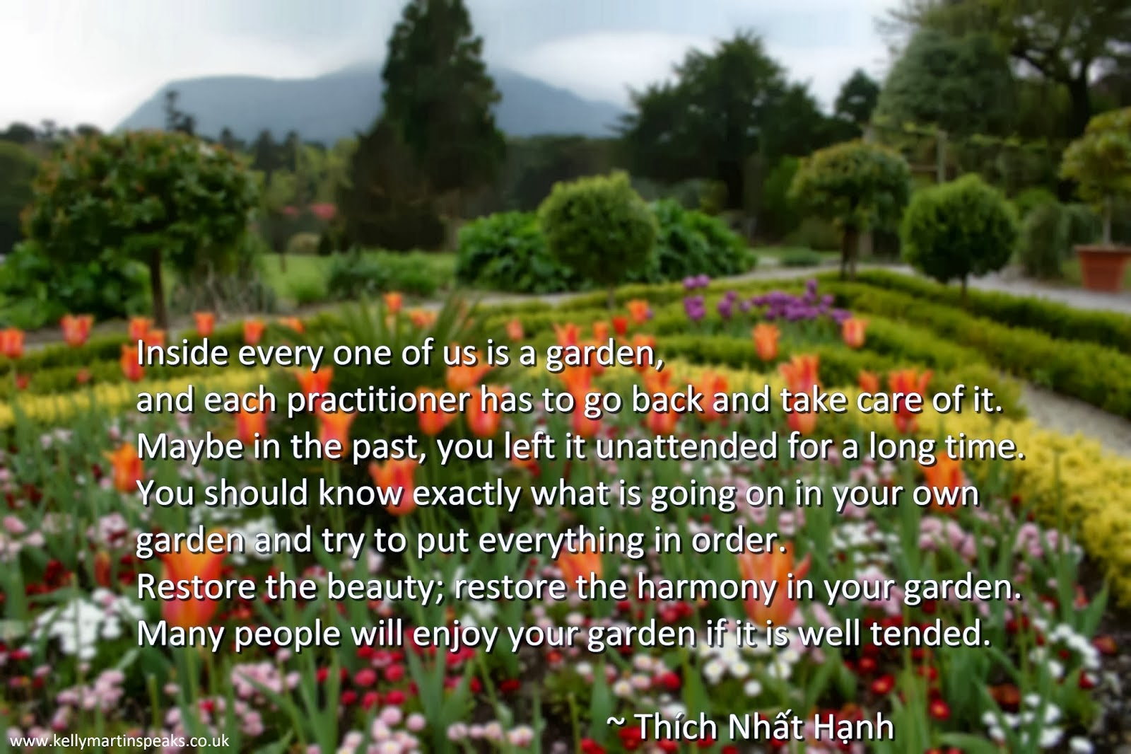 Inspirational Harmony Quote  by Thich Nhat Hanh