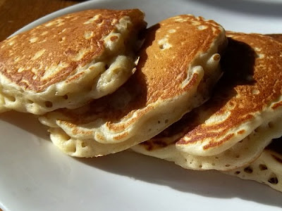 Honey Oatmeal Pancakes