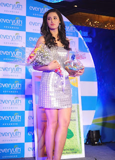 Nargis Fakhri  Pictures in Short Dress at Everyouth Naturals Face Wash Launch  1).jpg