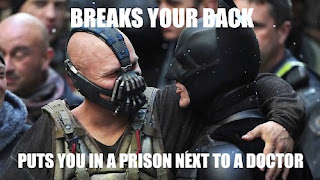 dark knight, bane, batman, broken back, back broke, best villains, life lessons