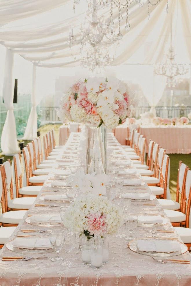 Wedding Centerpiece Ideas For Long Tables : I heart long tables belle the magazine
