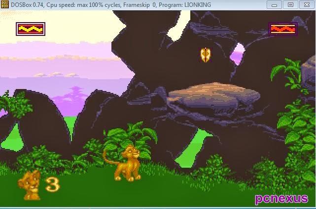 lion king dos game on windows 8