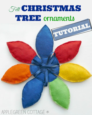 how to make Christmas tree decorations from felt