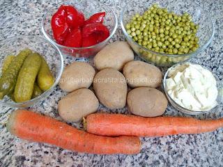 Salata de boeuf ingrediente reteta