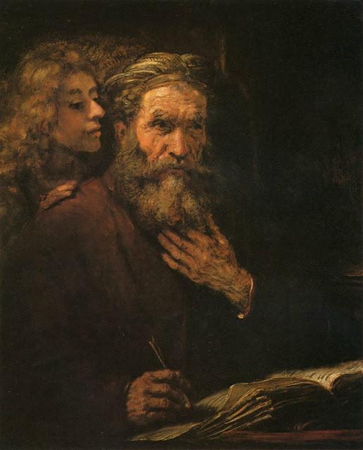 Rembrandt Mathieu et un ange, 1661