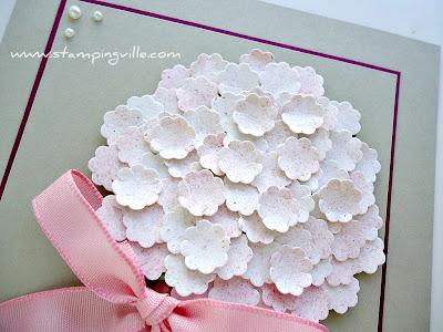 Punch Art Flower Bouquet Detail