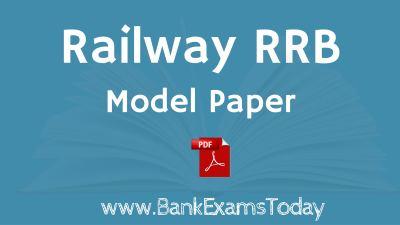 RAILWAY MODEL PAPER