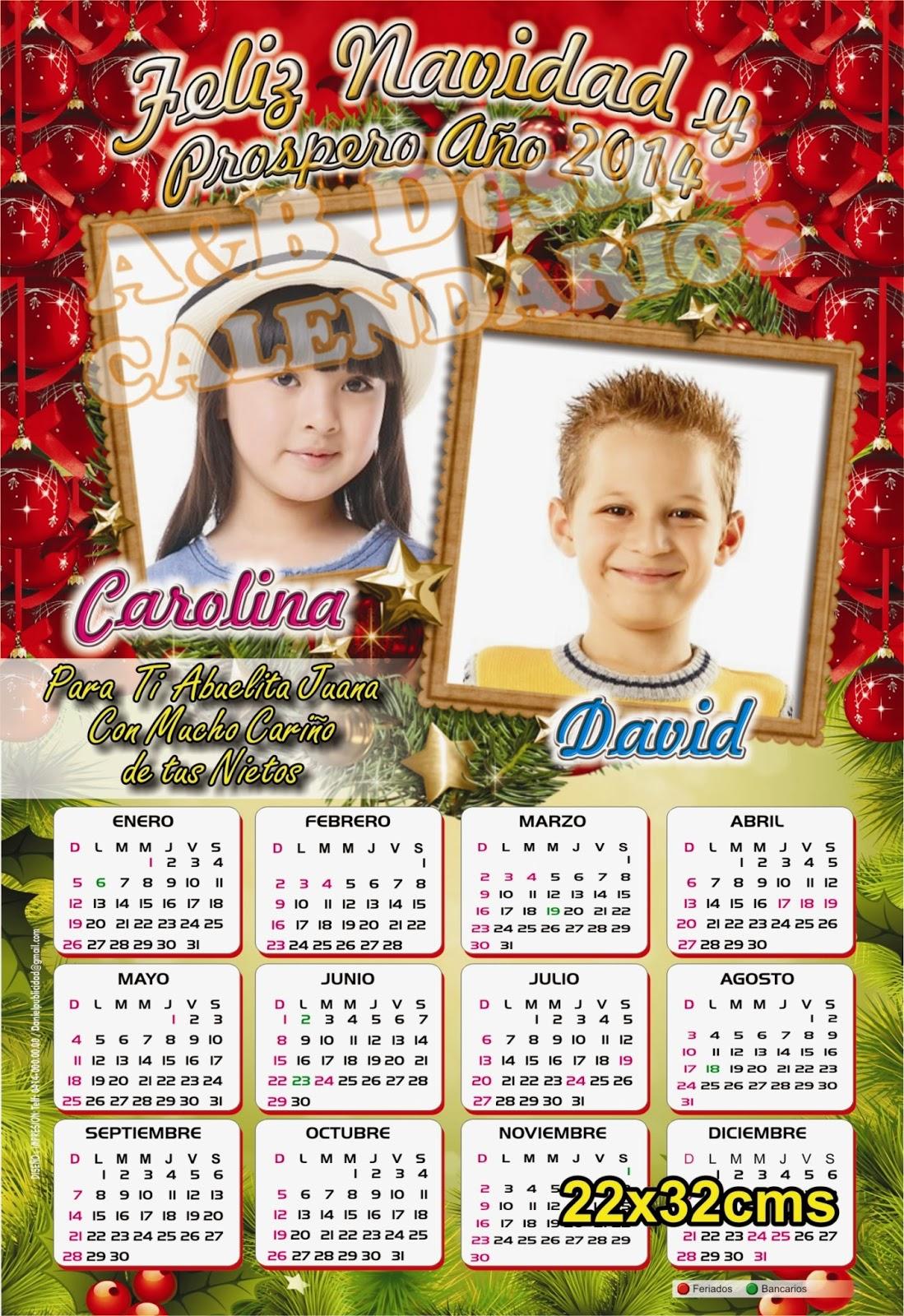 Calendarios personalizados calendarios navide os - Calendarios navidenos personalizados ...