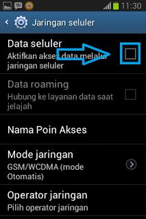 data seluler nonaktif