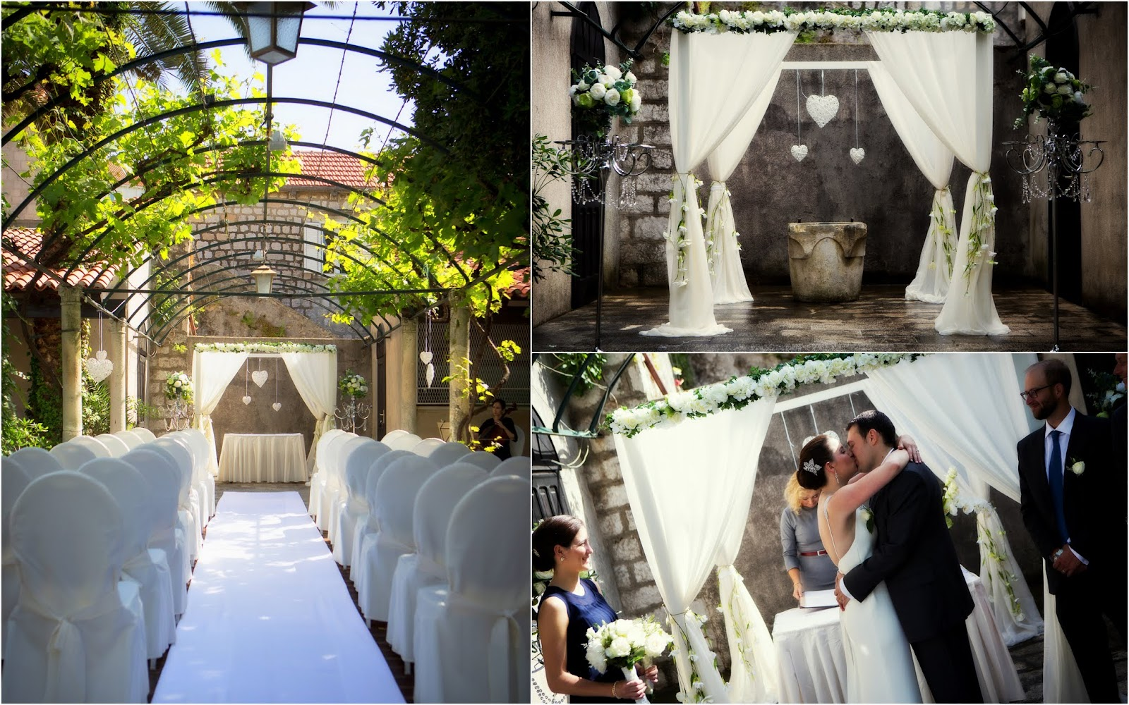 Dubrovnik outdoors garden wedding