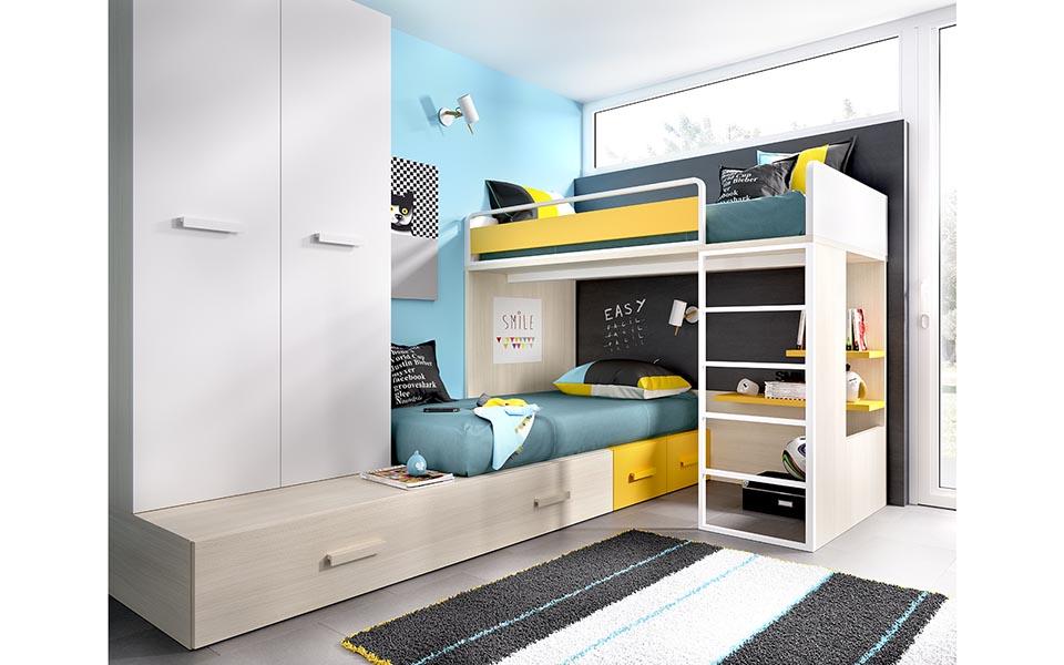 Arte h bitat tu tienda de muebles espacios peque os - Habitaciones infantiles pequenos espacios ...