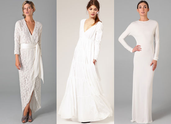 Winter season bride 39 s wedding gown fashion fashionable for Casual wedding dresses for winter