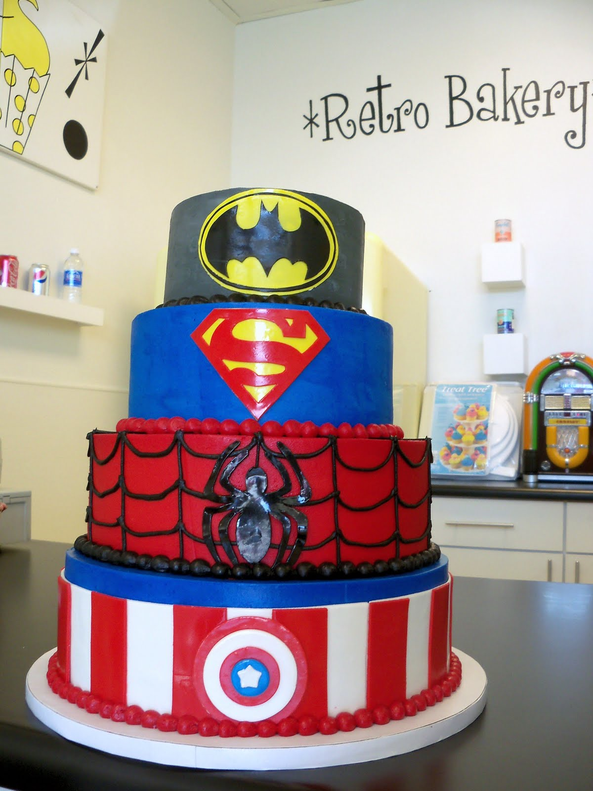 Single Layer Super Hero Cake Ideas 78637 | Superhero Cake Su