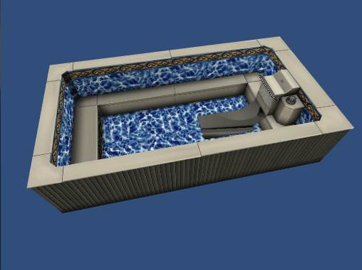A still image of an Endless Pool Elite from our Pool Configurator tool.