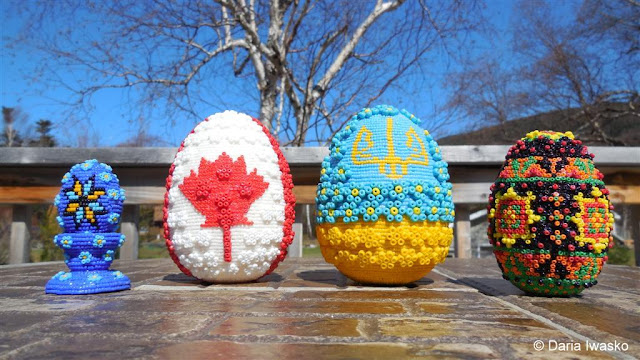Beaded Easter Eggs by Ukrainian-American Artist Daria Iwasko