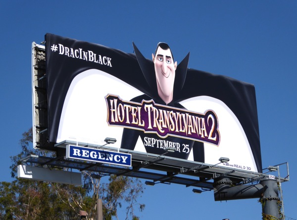 Dracula Hotel Transylvania 2 special extension billboard