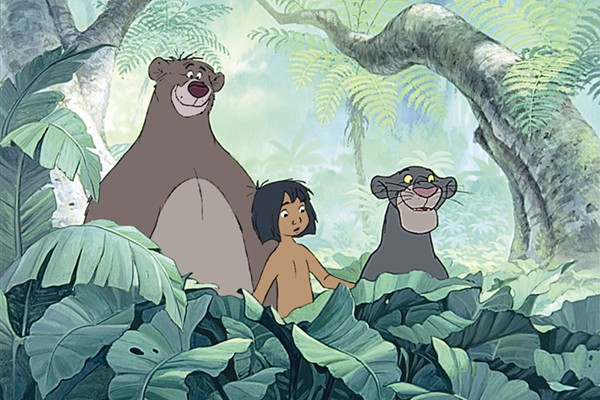 Baloo, Bagheera and Mowgli in Disney's The Jungle Book http://animatedfilmreviews.blogspot.com/2012/12/the-jungle-book-1967-bear-necessities.html