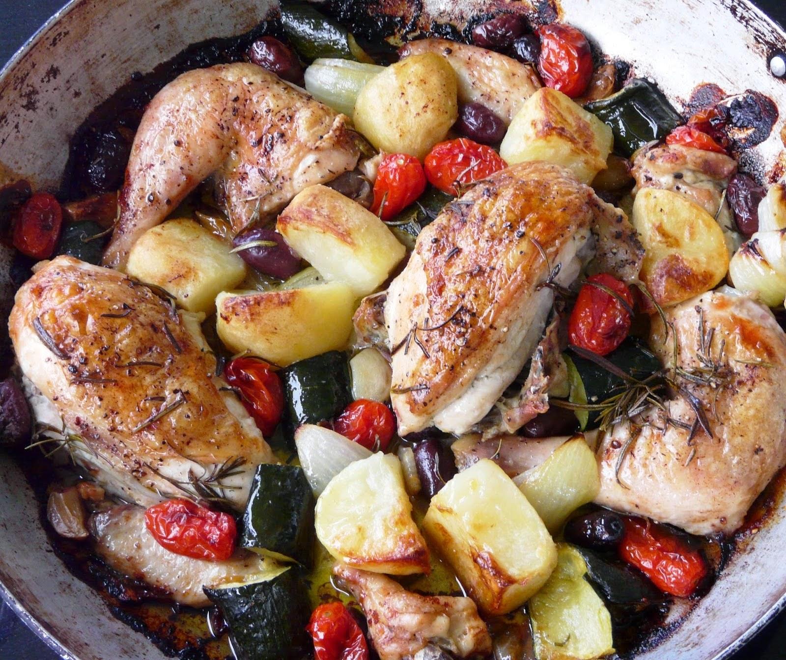 Roast Chicken Italian Style