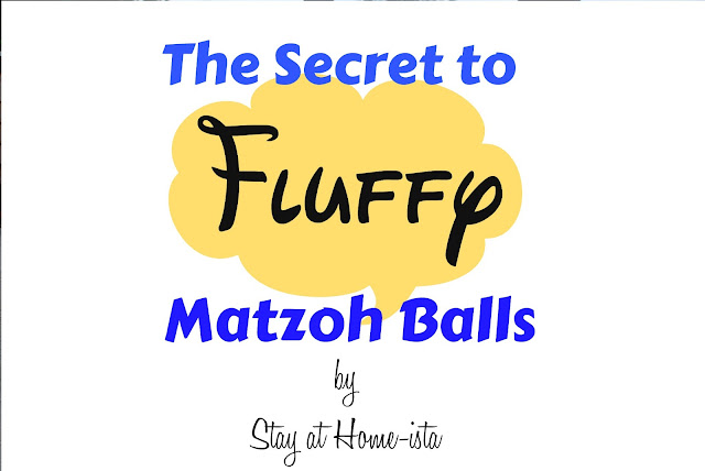 The secret to fluffy matzoh balls, perfect for passover seders!