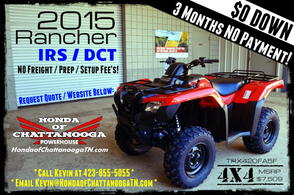 2015 Rancher 420 IRS DCT Price Specs For Sale Chattanooga TN GA AL TRX420FA5F