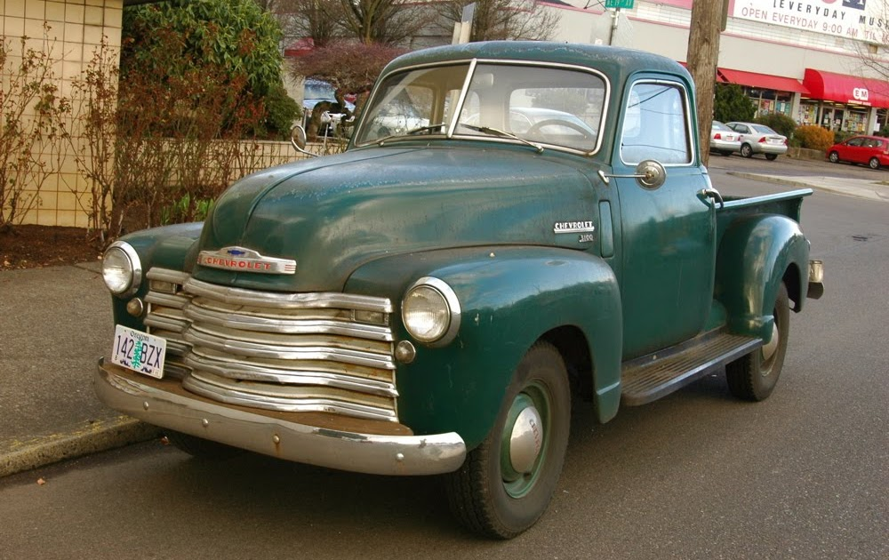 Old Parked Cars   1951 Chevrolet 3100 Pickup