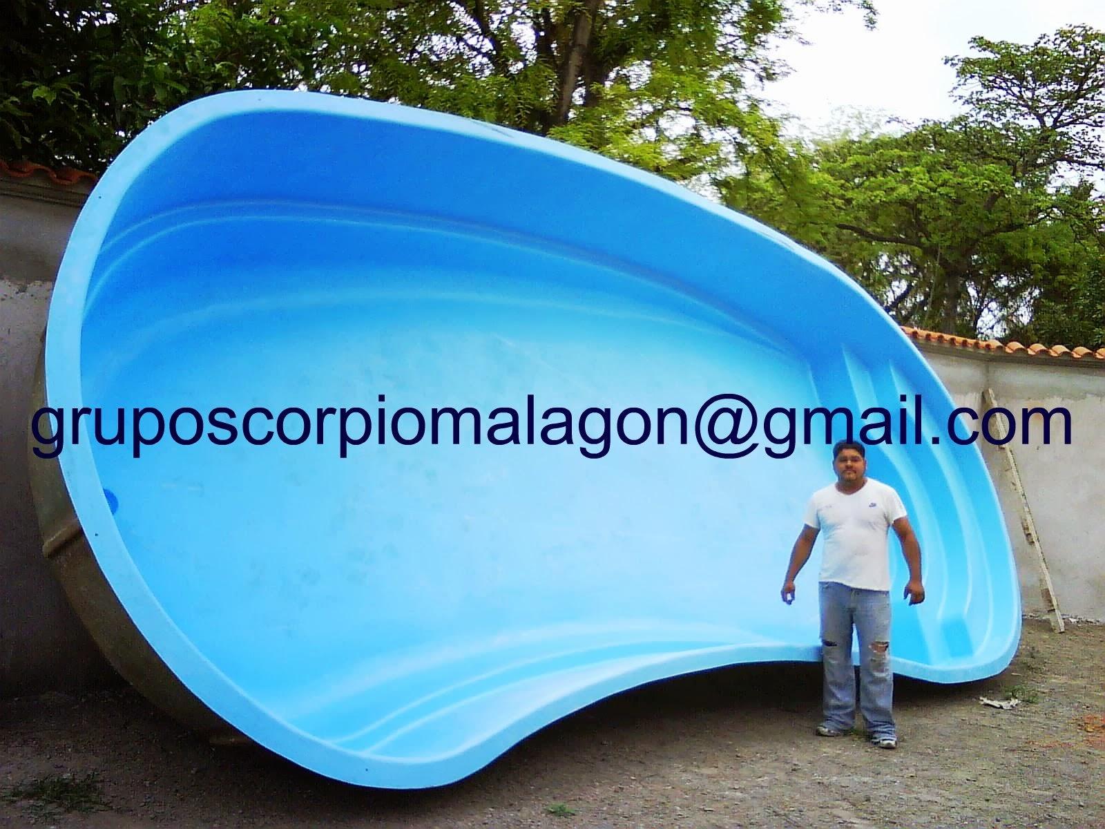 Grupo scorpio albercas y toboganes for Albercas de plastico