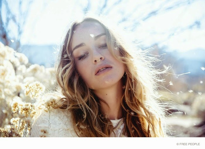Zella Day wears bohemian designs for the new Free People Lookbook