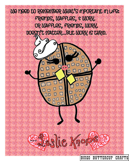 Leslie Knope Loves Waffles Poster by Bingo Buttercup