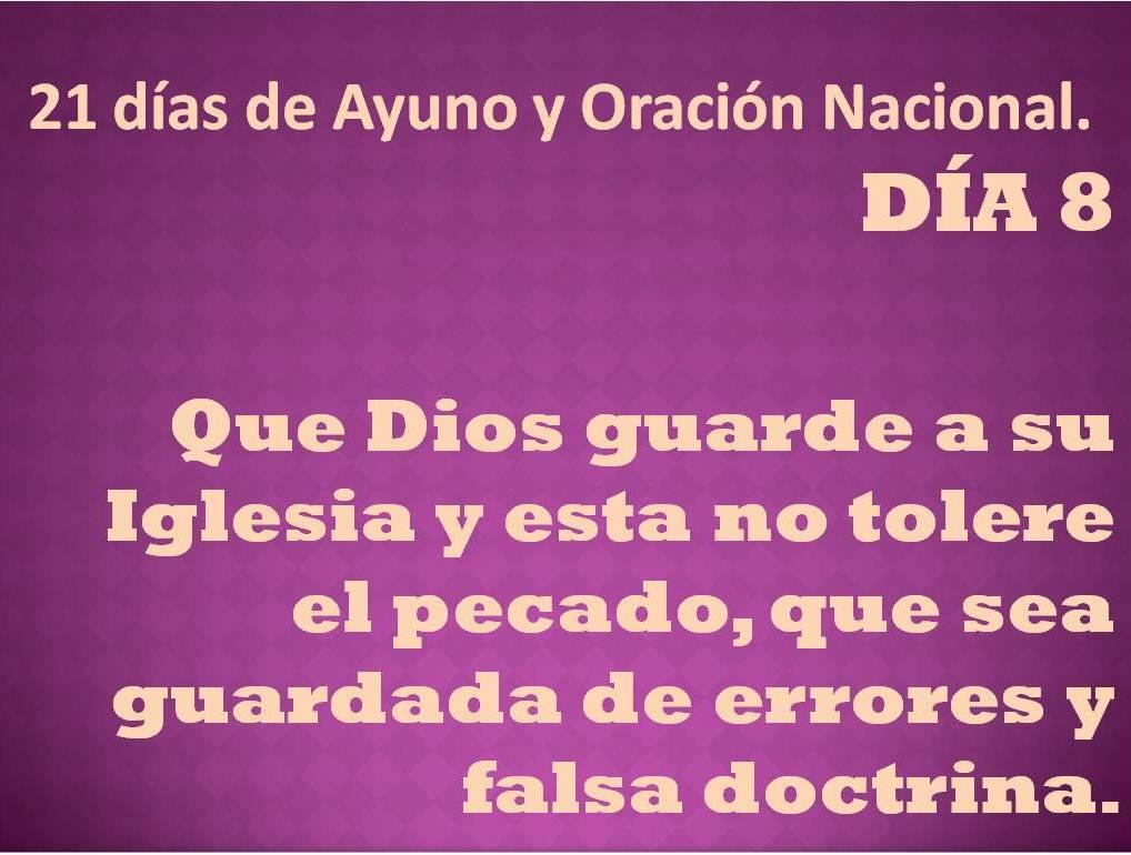 Oración del día 8